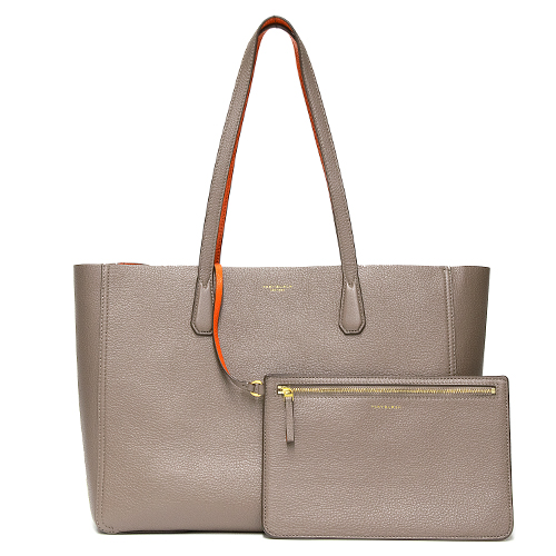 TORY BURCH トリーバーチ トートバッグ SILVER MAPLE/TANGERINE シルバーメープル/タンジェリン PERRY TOTE 49188 081 【送料無料】