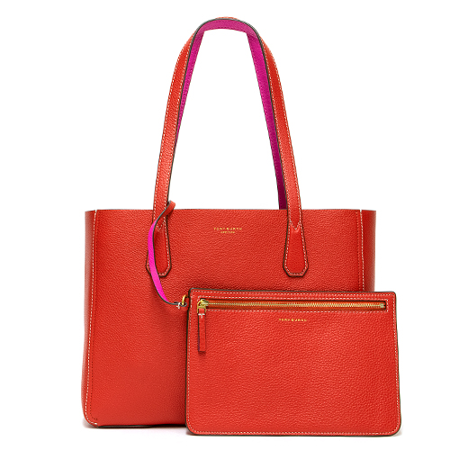 TORY BURCH トリーバーチ トートバッグ BRILLIANT RED/CRAZY PINK ブリリアントレッド/クレイジーピンク PERRY MINI TOTE 51236 624 【送料無料】