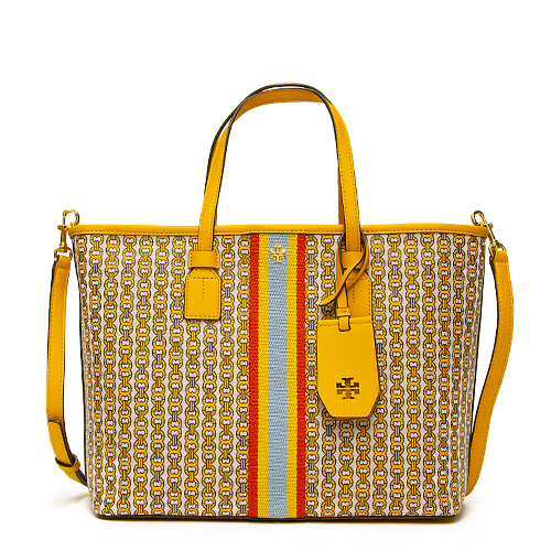 TORY BURCH トリーバーチ トートバッグ イエロー GEMINI LINK CANVAS SMALL TOTE 53304 783 DAYLILY GEMINI LINK 【送料無料】