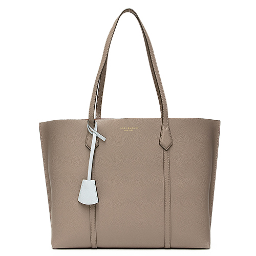 トリーバーチ TORY BURCH トートバッグ グレー PERRY TRIPLE COMPARTMENT TOTE 53245 082 GREY HERON 【送料無料】