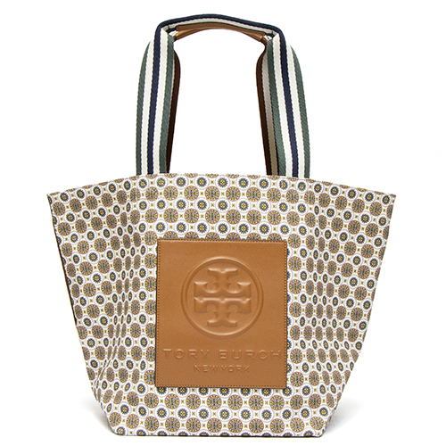 トリーバーチ TORY BURCH トートバッグ アイボリー GRACIE PRINTED CANVAS TOTE 65044 802 IVORY BATIK MEDALLION 【送料無料】