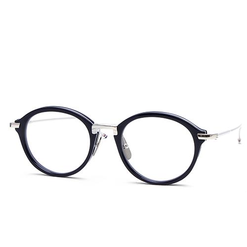トムブラウン THOM BROWNE アイウェア メガネ 眼鏡 ボストン ネイビー/シルバー TB011/H-NVY-SLV-49 【送料無料】