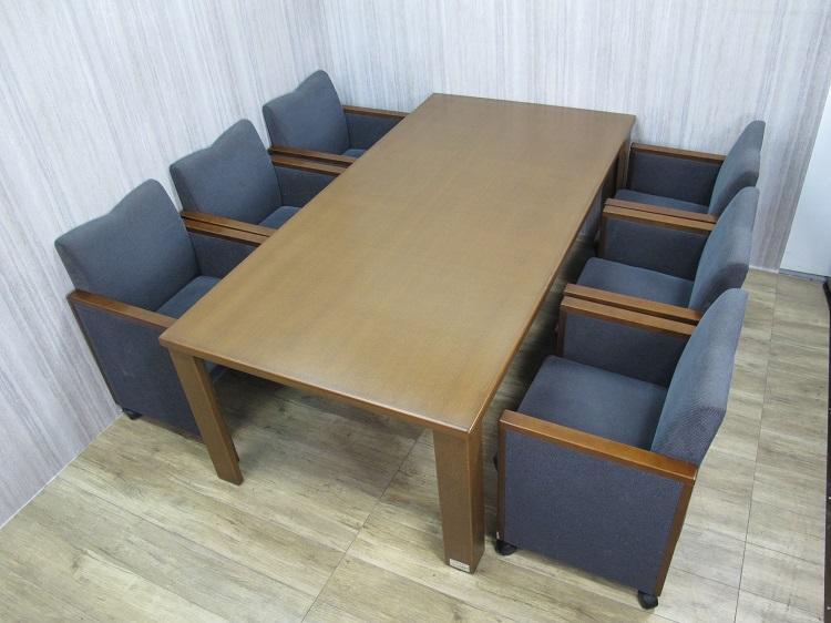 イトーキ 応接セット(センターテーブル 1Pソファ×6)