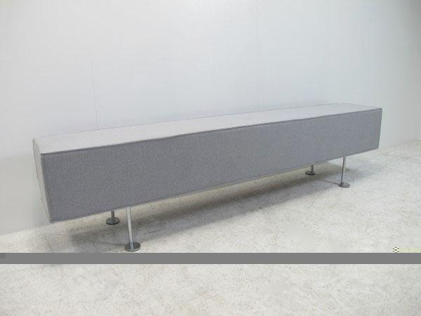 ウチダ SQシリーズ SQベンチ グレイ W1800