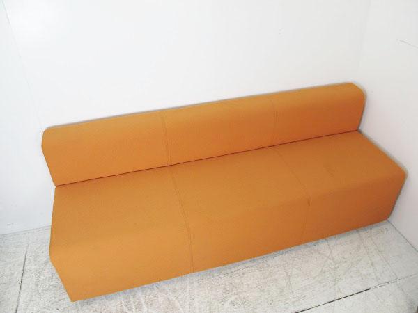 オカムラ S-53シリーズ 3人用ソファー オレンジ W1740