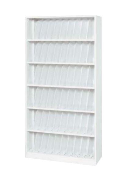 TOYO カルテ収納庫 オープン型 A4サイズ 6段 ホワイト W900 D350 H1770