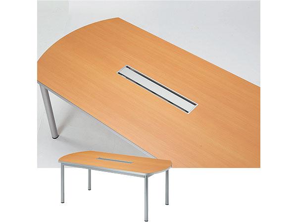 パソコン対応 ボード型 ミーティングテーブル W2100 D1000 配線機能付 WP-2110BW