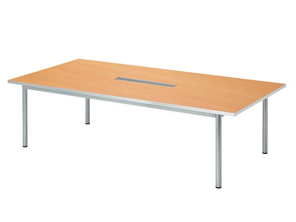 パソコン対応 角型 ミーティングテーブル W2400 D1200 配線機能付 WP-2412KW