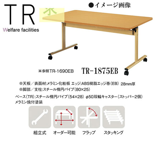ニシキ TR 福祉・医療施設用テーブル W1800 D750 H700 TR-1875EB