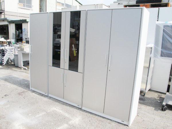 オカムラ マスターライン 役員用収納庫セット 書棚2台+ワードローブ
