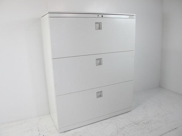 オカムラ レクトライン スタンダードタイプ ラテラルキャビネット3段 下置き用 ホワイト W900 D400