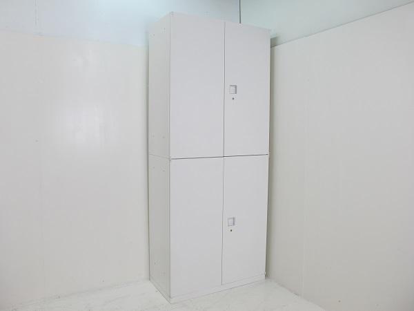 【セット商品】オカムラ レクトライン スタンダードタイプ 両開き書庫 上下セット 2150H ホワイト