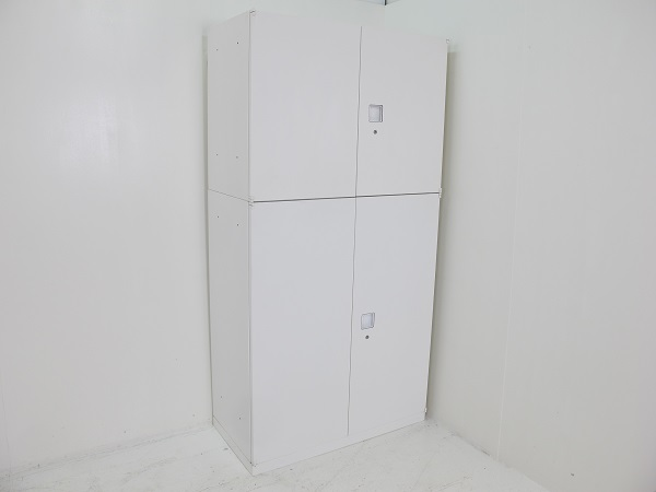 【セット商品】オカムラ レクトライン スタンダードタイプ 両開き書庫 1810H ホワイト