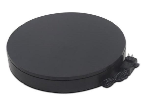 BKL NA4006BK [撮影用ターンテーブル 黒] 電動ターンテーブル 出品などの撮影用 30kg