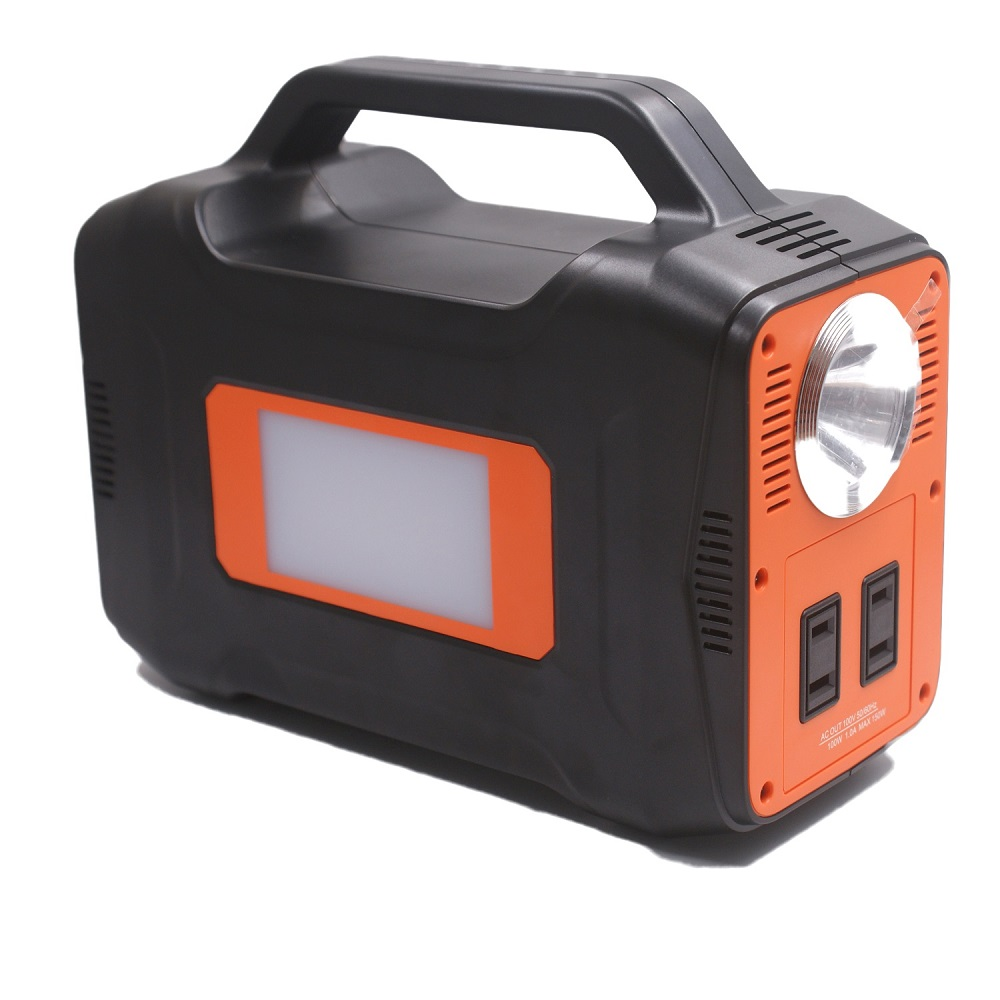 【Taskarl】TPD-J130 大容量ポータブル電源 大容量36000mAh/130Wh LEDランプ搭載小型軽量 PSE認証済 ソーラー充電 AC・DC・USB出力対応 キャンプ、緊急・災害時バックアップ用電源 タスカール!1年保証