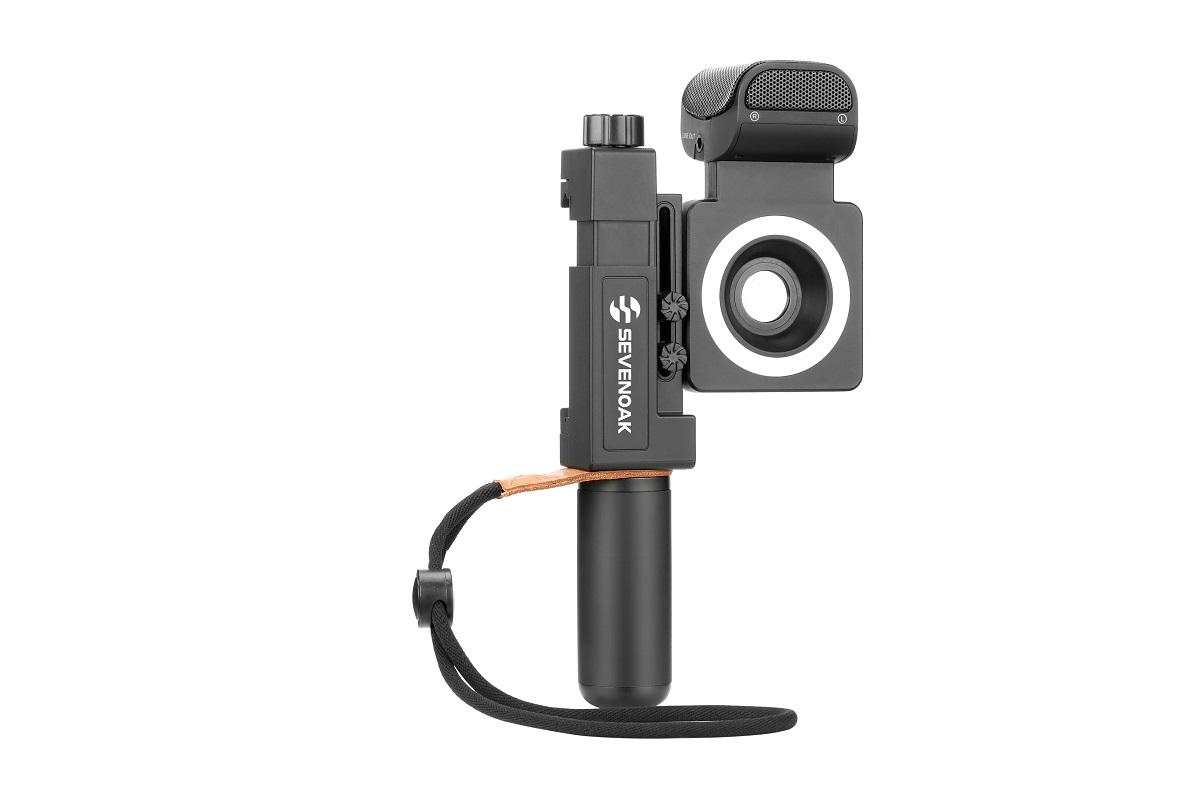 SEVENOAK SK-SmartCine スマートフォンビデオキット 魚眼レンズ/広角レンズ LEDリングライト YouTube/ビデオ撮影用 iPhoneとAndroidスマート:新東京物産オンラインショップ