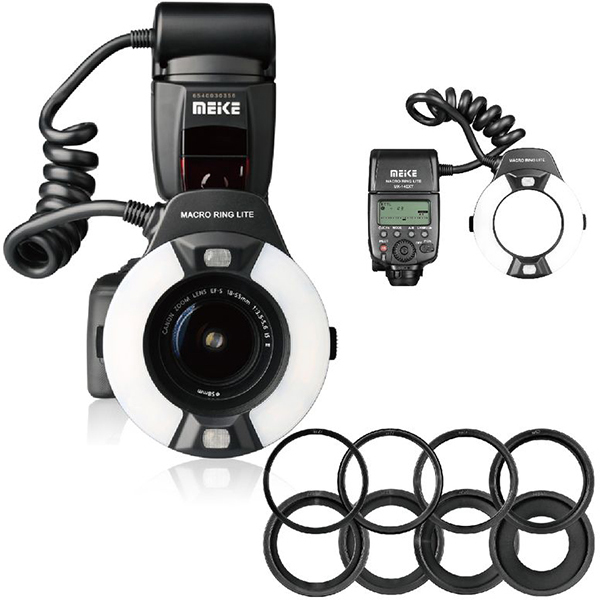 Canon 700D 650D 600D 550D 500D 450D 7D 期間限定の激安セール 6D 5D C マクロリングライト 選択 マクロリングフラッシュ Mark Meike for メイケ MK-14EXT IIなどに対応