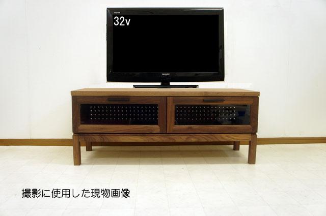 クリアランス限定品【送料無料】ウォールナット テレビボード 120 天然 無垢 脚付き 北欧 大川家具