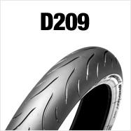 DUNLOP D209F 120/70ZR18 M/C 59W TL フロント用 ダンロップD209 ブラックサイドウォール商品番号286019