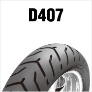 DUNLOP D407 180/55B18 M/C 80H TLダンロップ・D407・リア用ブラックサイドウォール商品番号285987
