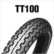 DUNLOP TT100 4.10H18 4PR TL フロント・リア共用 ダンロップ・TT100 商品番号126145タイヤサイズ4.10-18 Hレンジ