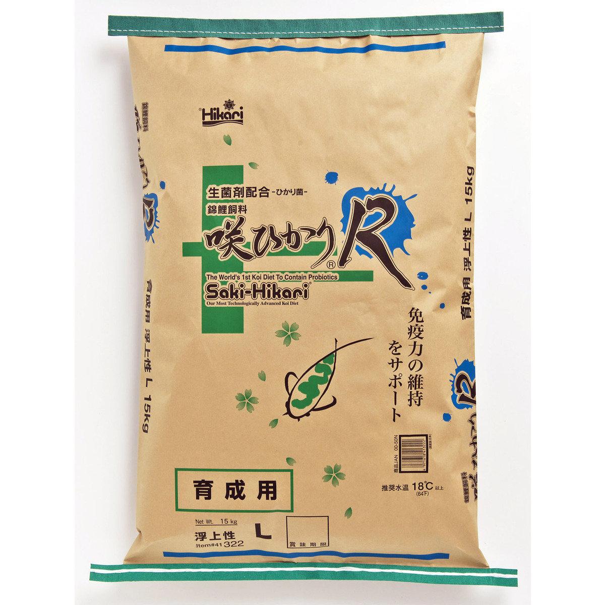 【お取寄せ品】キョーリン 咲ひかりR 育成用 浮上 L 錦鯉用 15kg【送料無料】