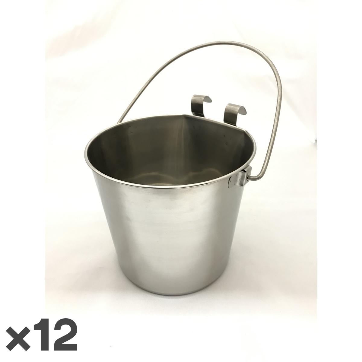 トムキャット ステンレス食器 バケツ 5.4L ×12入【送料無料】