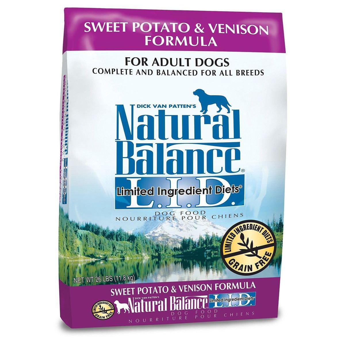 ナチュラルバランス L.I.D スイートポテト&ベニソン 全犬種・成犬用 11.8kg【送料無料】