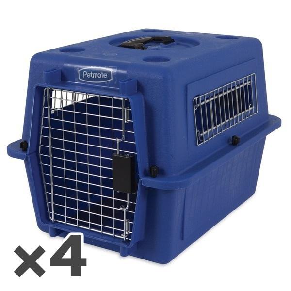 ペットメイト ウルトラ バリケンネル 15lbs (6.8kg) S ブルー 犬猫用 ×4入【送料無料】