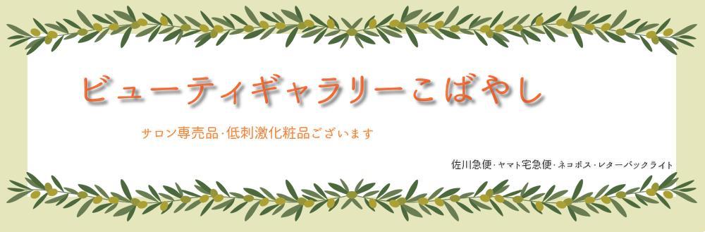 ビューティギャラリー こばやし:サロン専売品等、美に関するさまざまな商品ををお安くご提供。