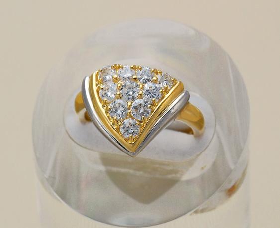 15時までの決済で即日発送 最短で翌日届きます 超特価SALE開催 K18 Pt850 中古 受賞店 ダイヤモンド リング 1.10ct