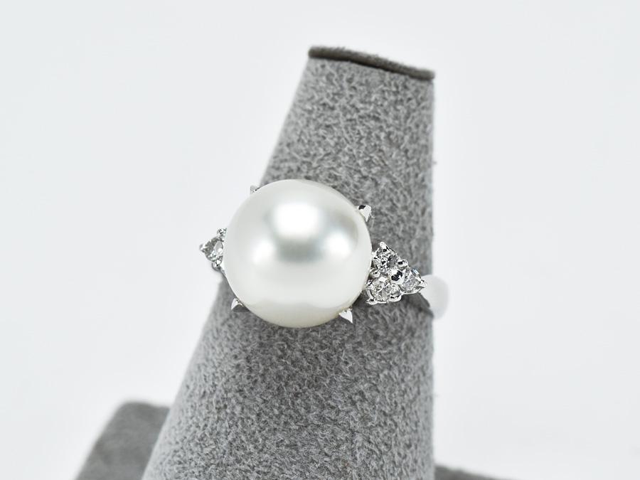 送料無料 15時までの決済で即日発送 最短で翌日届きます Pt900 ファッションリング パール ダイヤモンド 流行のアイテム 0.20ct サイズ13号 プラチナ ダイア レディース アクセサリー バーゲンセール 中古 真珠 指輪 ジュエリー