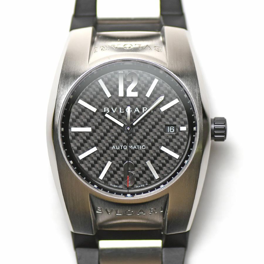 15時までの決済で即日発送 最短で翌日届きます セール ブルガリ BVLGARI エルゴン 40MM オートマティック EG40BSVD 紳士用 ブラックカーボン文字盤 自動巻 激安セール 中古 男性用 メンズ 腕時計