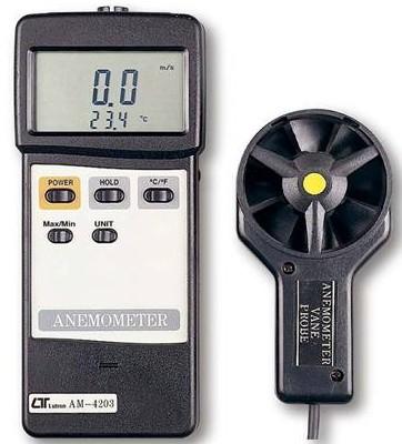 全国送料無料LUTRON社[AM-4203](ベーン型、ホットワイヤタイプ)アネモメータ デジタル風速計
