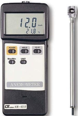 全国送料無料LUTRON社[AM-4213](ミニベーン式、ホットワイヤタイプ)アネモメータ デジタル風速計