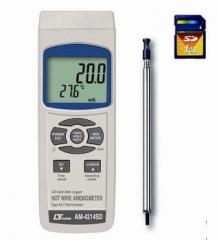 全国送料無料LUTRON社[AM-4214SD](データロガー) デジタル風速計