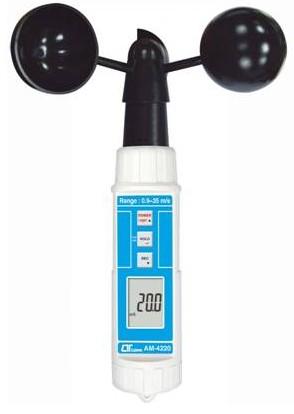 全国送料無料LUTRON社[AM-4220]デジタルハンディ風杯式風速計