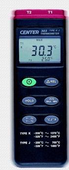 全国送料無料CENTER社[CENTER-303]KとJ型熱電対温度計(温度計) CENTER-303