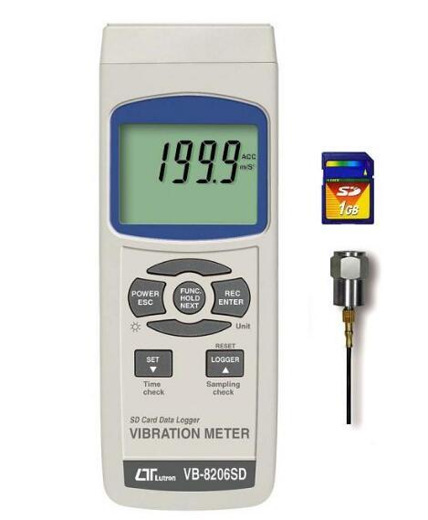 【送料無料】 LUTRON社 VB-8206SD SDカードデータロガ式デジタル振動計