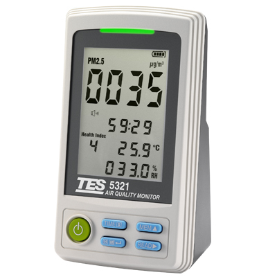 【送料無料】 TES社 TES-5321 空気品質モニター 環境モニター PM2.5