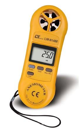 全国送料無料LUTRON社[LM-81AM]ポケットサイズ風速計LM81AM