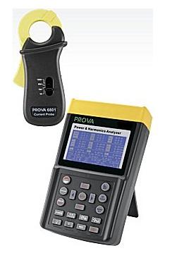 全国送料無料TES社[PROVA 6830+6801]消費電力と高調波アナライザ PROVA 6830+6801