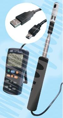 全国送料無料TES社[TES-1340]熱線式風速・風量計 TES-1340