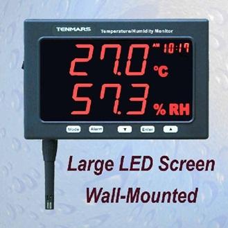 全国送料無料TENMARS社[TM-185D]温度・湿度モニター(データロガー付き) TM-185D