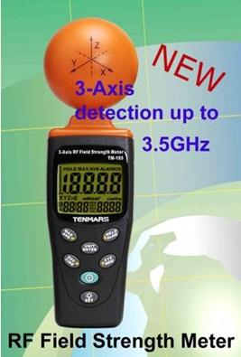 全国送料無料TENMARS社[TM-195]電磁波・マイクロ波漏洩測定器 TM-195