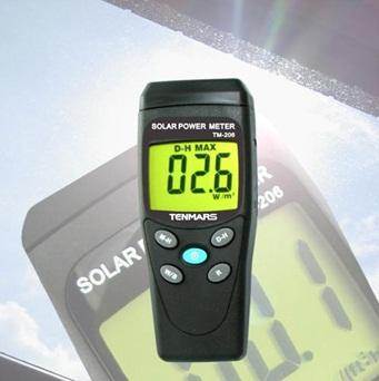 全国送料無料TENMARS社[TM-206]太陽光ソーラーパワーメーター(太陽光放射強度計) TM-206
