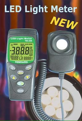 全国送料無料TENMARS社[TM-209]LEDライトメーター照度計TM-209