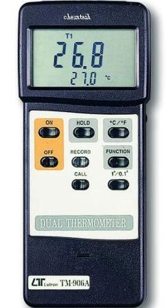 全国送料無料LUTRON社[TM-906A]デュアル温度計(T1,T2,T1-T2) TM-906A
