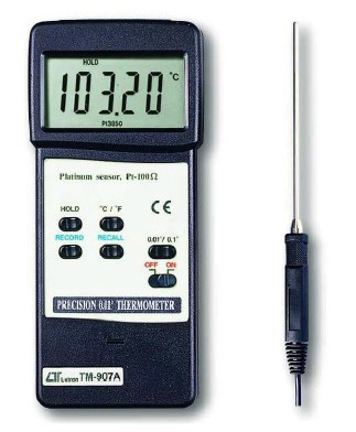 全国送料無料LUTRON社[TM-907A]高精度温度計 TM-907A