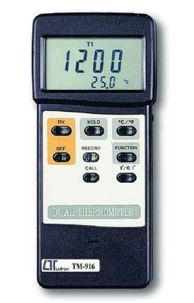 全国送料無料LUTRON社[TM-916]デュアル温度計(T1,T2,T1-T2) TM-916
